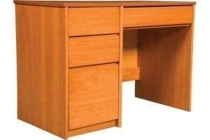 Graduate Series Pedestal Desk in Wild Cherry