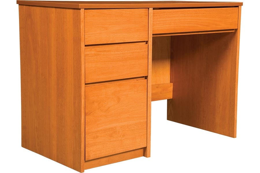 Graduate Series Pedestal Desk in Wild Cherry