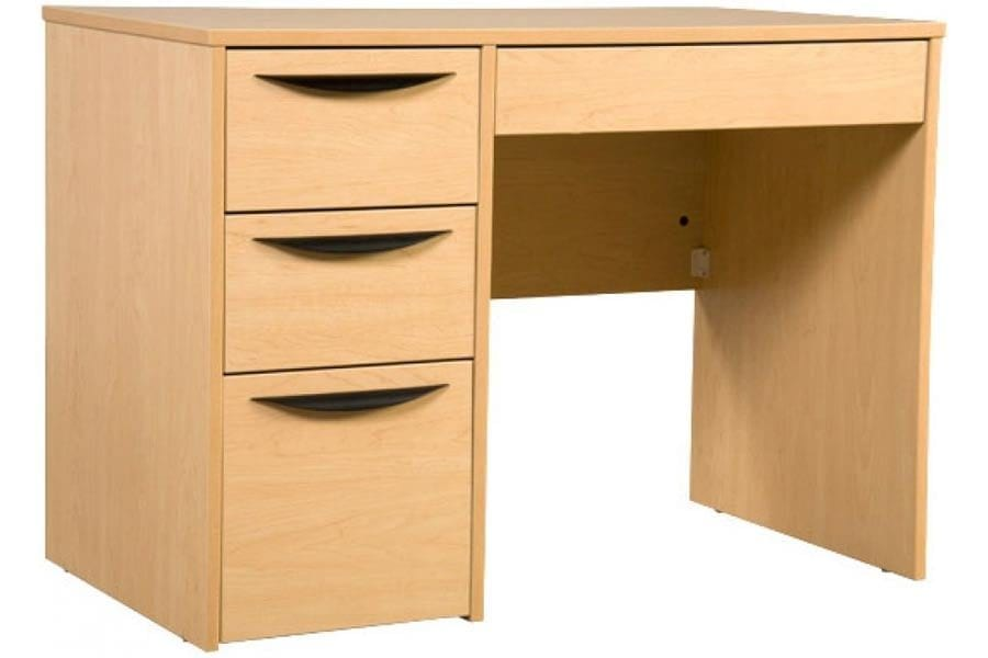 Greenfield Pedestal Desk in Kensington Maple