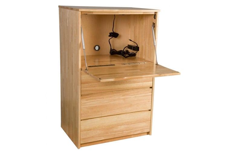 Solid Wood Drop Front Desk