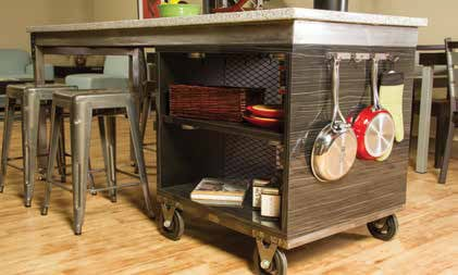 Large Mobile Kitchen Island