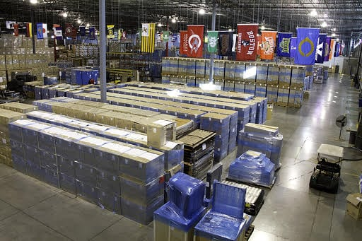 Warehouse of items ready to ship