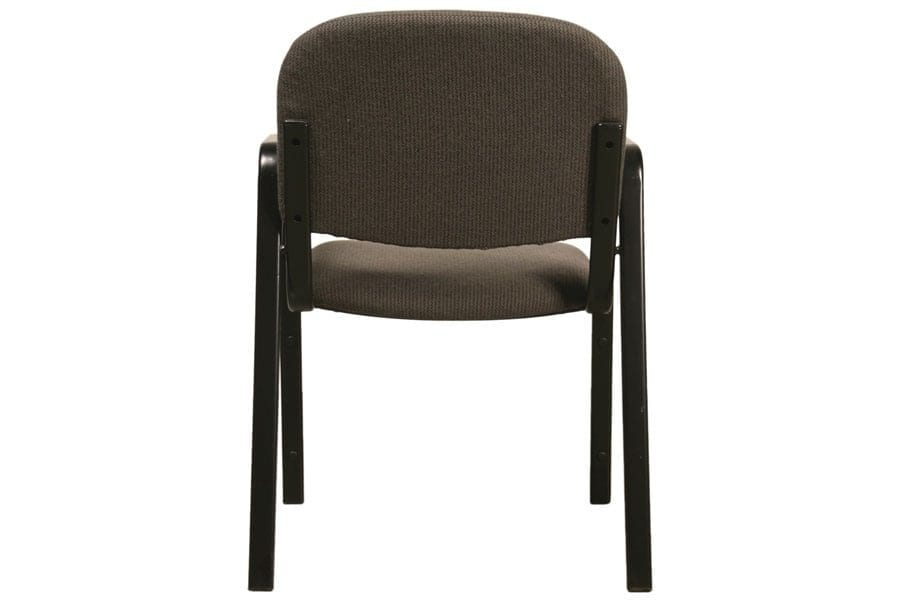 Metal Legged Chair with Arms Back View