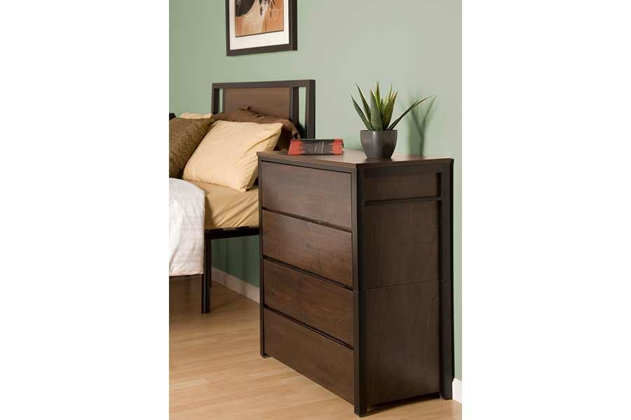 Espresso 4 Drawer Unstackable Chest