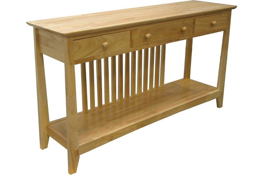 Mission Style Sofa Table University Loft Company