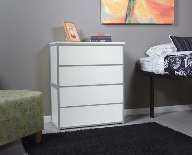 Uptown Frosty White with Kessler Silver Trim